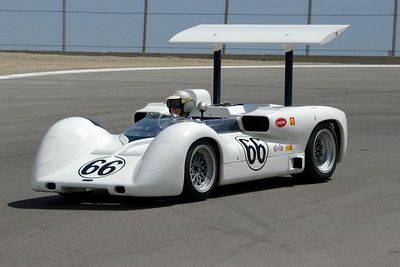 Jim Hall in the Chaparral 2E